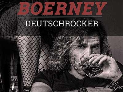 Titelbild, Boerney der Deutschrocker. Boerney mit Whiskeyglas