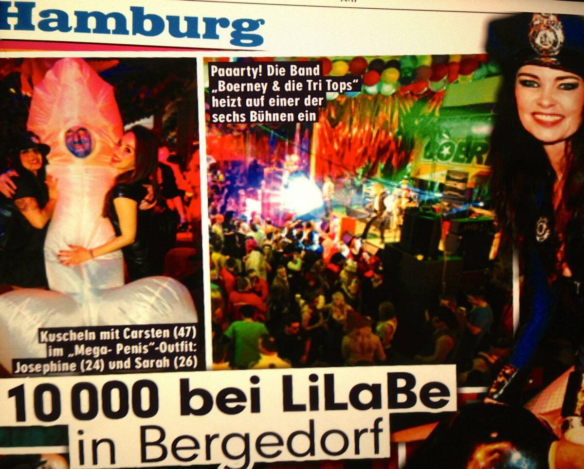 Pressebricht über die Coverband bei LiLaBe