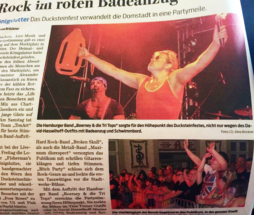 Pressebericht über Boerney in Königslutter