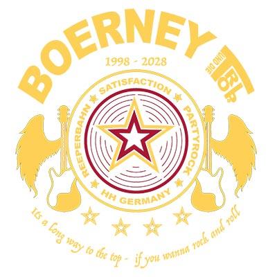 Boerneys Partyband rundes Logo zum Download für Veranstalter
