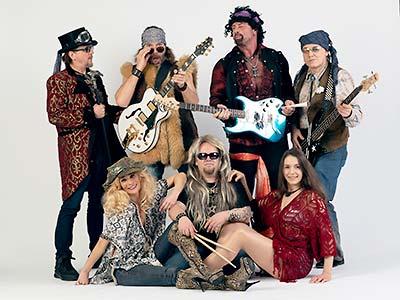 Bandfoto, 70er look