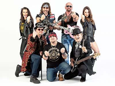 Rockiges Bandfoto der Coverband Boerney